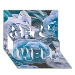 Great Garden Roses Blue Get Well 3d Greeting Card (7x5)