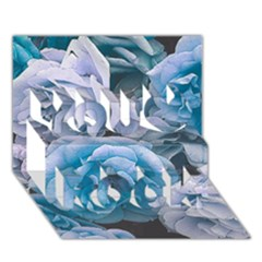 Great Garden Roses Blue You Rock 3d Greeting Card (7x5)  by MoreColorsinLife