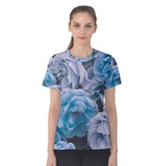 Great Garden Roses Blue Women s Cotton Tees