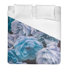 Great Garden Roses Blue Duvet Cover Single Side (twin Size) by MoreColorsinLife