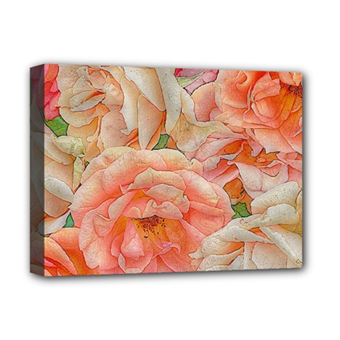 Great Garden Roses, Orange Deluxe Canvas 16  X 12