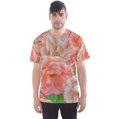 Great Garden Roses, Orange Men s Sport Mesh Tees