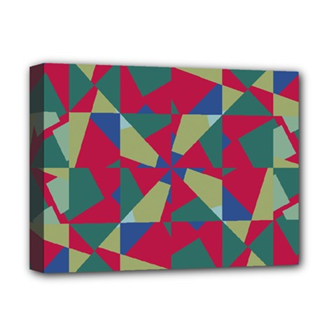 Shapes In Squares Pattern Deluxe Canvas 16  X 12  (stretched)  by LalyLauraFLM