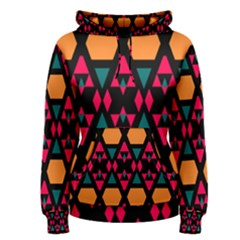 Rhombus And Other Shapes Pattern Women s Pullover Hoodie by LalyLauraFLM