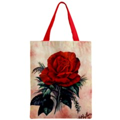 Red Rose #2 Classic Tote Bags by ArtByThree