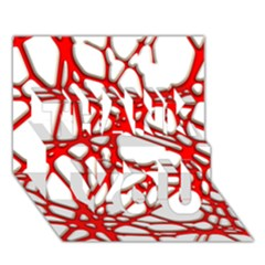 Hot Web Red Thank You 3d Greeting Card (7x5)