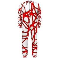 Hot Web Red Onepiece Jumpsuit (men)  by ImpressiveMoments