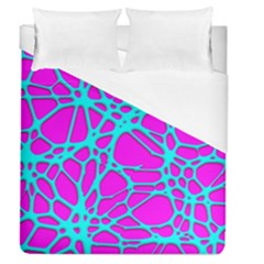 Hot Web Turqoise Pink Duvet Cover Single Side (full/queen Size)