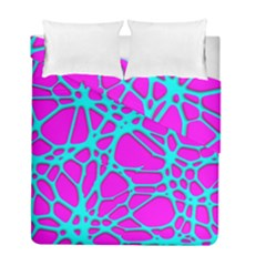 Hot Web Turqoise Pink Duvet Cover (twin Size) by ImpressiveMoments