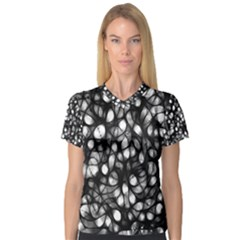 Chaos Decay Women s V Neck Sport Mesh Tee by KirstenStar