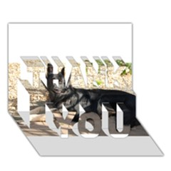 Black German Shepherd Laying THANK YOU 3D Greeting Card (7x5)  by TailWags