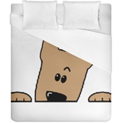 Peeping Yorkshire terrier Duvet Cover Single Side (Double Size) by TailWags