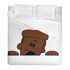 Peeping Chocolate Poodle Duvet Cover Single Side (Twin Size) by TailWags