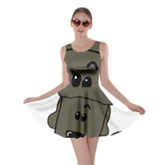 Peeping Silver  Poodle Skater Dresses by TailWags