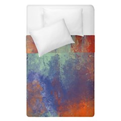 Abstract In Green, Orange, And Blue Duvet Cover (single Size) by digitaldivadesigns