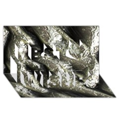 Brilliant Metal 5 Best Wish 3d Greeting Card (8x4)  by MoreColorsinLife
