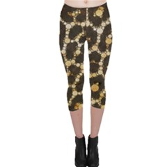 Crazy Beautiful Abstract Cheetah Abstract  Capri Leggings by OCDesignss