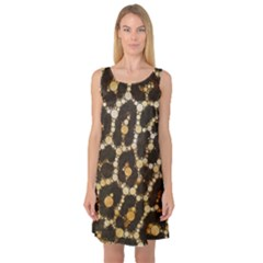 Crazy Beautiful Abstract Cheetah Abstract  Sleeveless Satin Nightdresses by OCDesignss