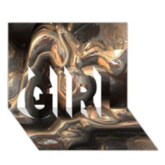 Brilliant Metal 4 Girl 3d Greeting Card (7x5)  by MoreColorsinLife