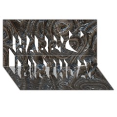 Brilliant Metal 2 Happy Birthday 3d Greeting Card (8x4)  by MoreColorsinLife