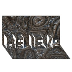 Brilliant Metal 2 Believe 3d Greeting Card (8x4)  by MoreColorsinLife