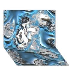 Metal Art 11, Blue Ribbon 3d Greeting Card (7x5)  by MoreColorsinLife