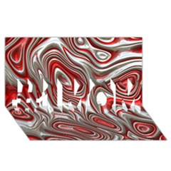 Metal Art 9 Red #1 Mom 3d Greeting Cards (8x4)