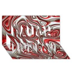 Metal Art 9 Red Laugh Live Love 3d Greeting Card (8x4)