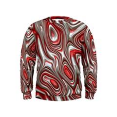 Metal Art 9 Red Boys  Sweatshirts by MoreColorsinLife