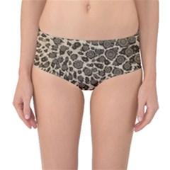 Brown Cheetah Abstract  Mid-Waist Bikini Bottoms by OCDesignss