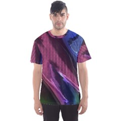Colorful Broken Metal Men s Sport Mesh Tees