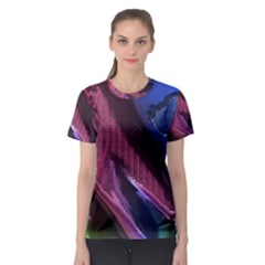 Colorful Broken Metal Women s Sport Mesh Tees