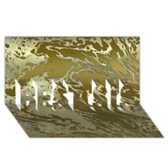 Metal Art Swirl Golden Best Sis 3d Greeting Card (8x4)