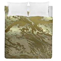 Metal Art Swirl Golden Duvet Cover (full/queen Size)