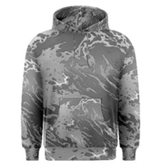 Metal Art Swirl Silver Men s Pullover Hoodies by MoreColorsinLife