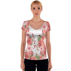 Flower By Dress   Women s V Neck Cap Sleeve Top   Pz7uakflkmq7   Www Artscow Com