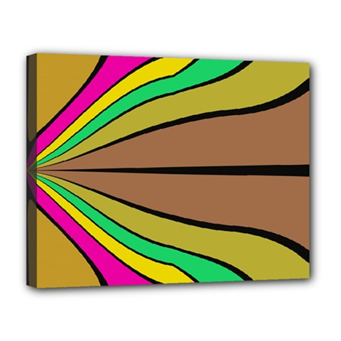 Symmetric Waves Canvas 14  X 11  (stretched) by LalyLauraFLM