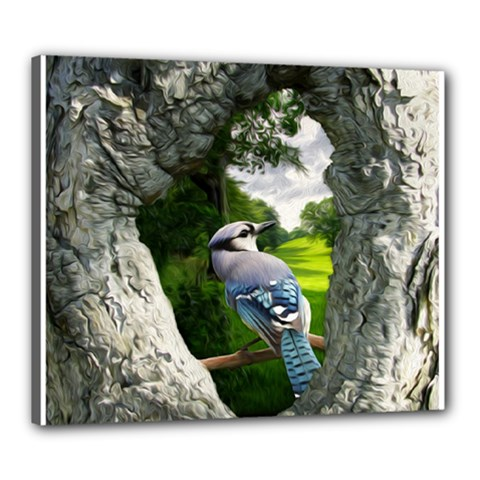 Bird In The Tree Canvas 24  X 20  by infloence