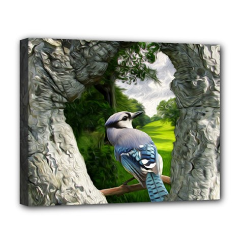 Bird In The Tree Deluxe Canvas 20  X 16   by infloence
