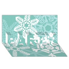 Snowflakes 3  Party 3d Greeting Card (8x4)