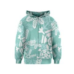 Snowflakes 3  Kids Zipper Hoodies by theimagezone