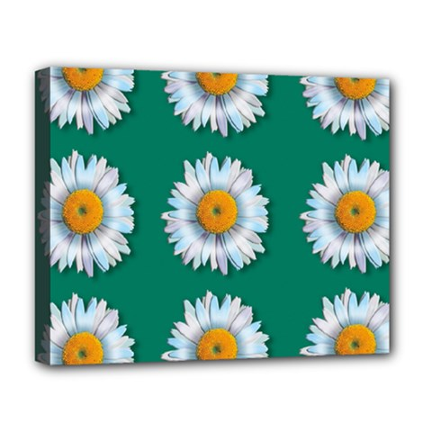 Daisy Pattern  Deluxe Canvas 20  X 16   by theimagezone