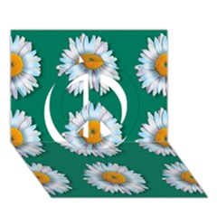 Daisy Pattern  Peace Sign 3d Greeting Card (7x5)  by theimagezone