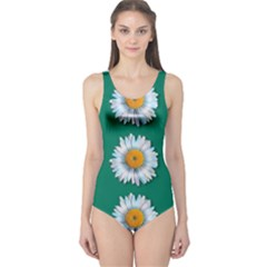 Daisy Pattern  Women s One Piece Swimsuits by theimagezone