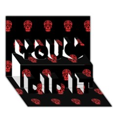 Skull Pattern Red You Did It 3d Greeting Card (7x5)