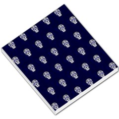 Skull Pattern Blue  Small Memo Pads