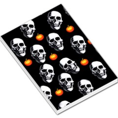 Skulls And Pumpkins Large Memo Pads by MoreColorsinLife