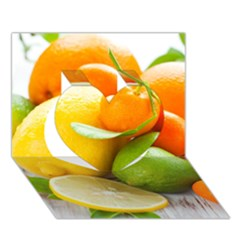 Citrus Fruits Heart 3d Greeting Card (7x5)