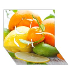 Citrus Fruits Clover 3d Greeting Card (7x5)
