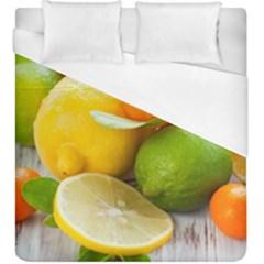 Citrus Fruits Duvet Cover Single Side (kingsize) by emkurr